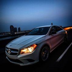 A star in the night.  #Mercedes #Benz #CLA
