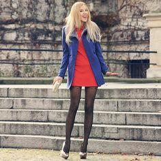 Promod Coat, Mohito Dress, Mohito Bag, Fiore Tights, Fleq Heels