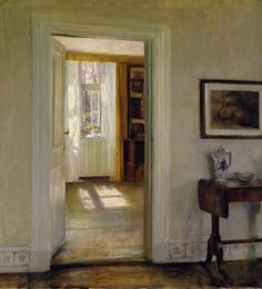 Interior with Garden, Carl Vilhelm Holsøe