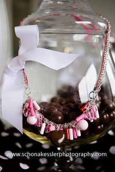 Three Pink Chain Candy Covered Necklace by uniquekimmy on Etsy, $170.00