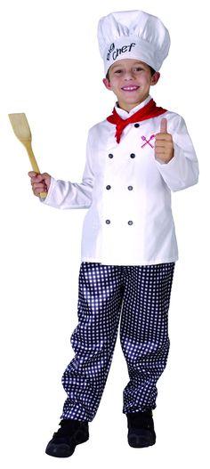 Déguisement chef cuisinier garçon : Ce déguisement de chef cuisinier pour garçon…