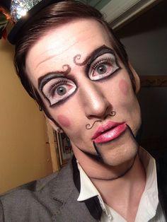 Ventriloquist puppet Halloween costume makeup :)