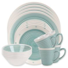 Product Image for Sango Rico 16-Piece Dinnerware Set in Aqua 1 out of 5