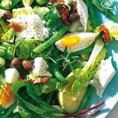 Dreierlei Bohnensalat mit Mozzarella