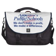 America's Pub. Schools Make Difference Laptop Bag