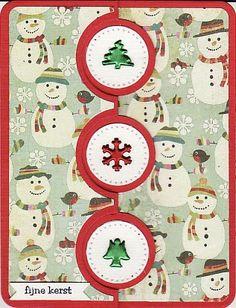 Christmas Card  Supplies: Sizzix Framelits Die Set 10PK - Card, Triple Circle Flip-its