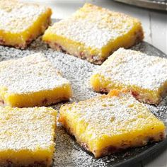 Cranberry Clementine Bars Recipe -I love a good lemon bar but when the holidays roll around and clementines are everywhere, I make this holiday twist on a classic dessert. —Laurie Lufkin, Essex, MA