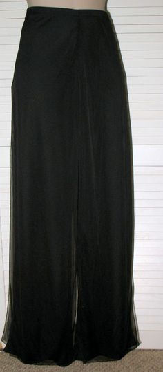 CONNECTED Apparel Flowy Jersey and Mesh Palazzo Pants NWT 16 BLACK USA Made! #CONNECTEDApparelUSA #Palazzo