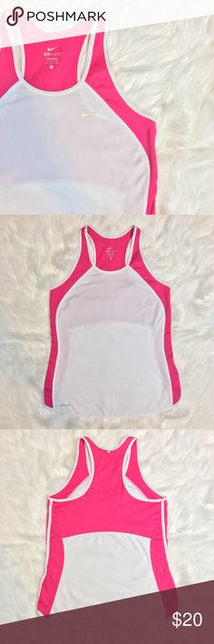 Nike Dri-Fit Tank Top Great for working out💗 Size small. Raspberry pink color. Excellent pre-owned condition! Nike Tops Tank Tops