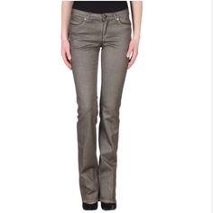 Roberto Cavalli metallic jeans SZ 4 anthracite Anthracite metallic jeans pristine condition Roberto Cavalli Jeans Straight Leg