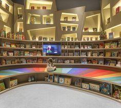 Arthur Casas Designs A Rainbow Twisted Kids Book Den for Saraiva