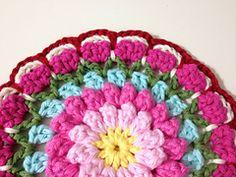 Ravelry: Bobbly Flower Mandala pattern by Mad Blanketer