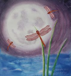 Red Dragonfly Moon Dance