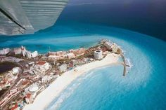 See which American cities offer direct flights to Cancun, the airlines that fly the routes and the prices they charge, along with some commentary from Hopper. Cancun All Inclusive, All Inclusive Family Resorts, Cancun Resorts, Last Minute Travel, Quintana Roo, Travel Deals, Travel Tips, Riviera Maya, Aerial View