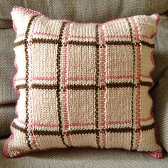 We love the idea of this cool knit and woven pillow! Try your hand at a pillow design in DROPS Nepal, Alaska or our new Cascade 220 Superwash!