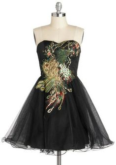 Perfect Poise Peacock Dress, #ModCloth