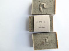 Seaweed Natural Soap Handmade with Pure Base Oils with Rosemary Essential Oil, Eco-Friendly Packaging