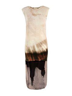 Spray paint black colour dress