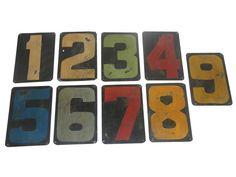 Zestaw 9 tabliczek na ścianę