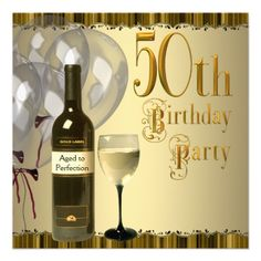 19 Best Elegant 50th Birthday Invitations Images 50th Anniversary