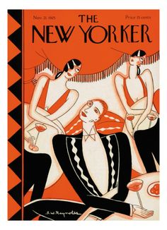 U.S. The New Yorker Cover, November 21, 1925 // by Stanley W. Reynolds Right smack dad in the middle of the Art Deco period. It's beautiful.