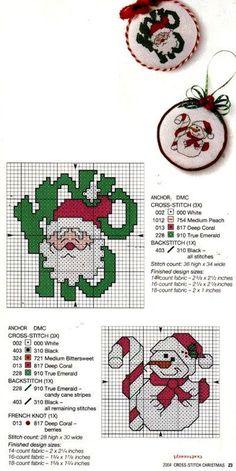 15 graficos navideños en punto de cruz gratis12