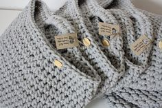 Hanging crochet cotton basket by CreamKnit on Etsy
