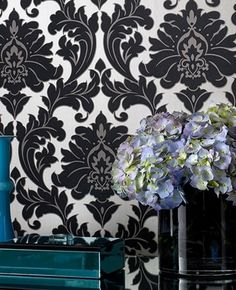 Dramatic damask in black and white