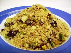 Cherry Cocoa and pistachio couscous