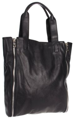 Co-Lab By Christopher Kon Ryder-1271 Large Zipper Tote in black (Céline Cabas Zip knockoff)