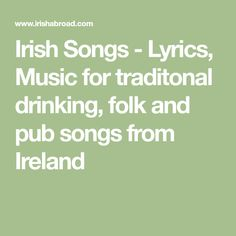 24 Best Irish song lyrics images in 2015 | Lyrics, Songs