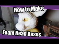 How to make fursuit foam head bases, the bucket method, a great beginner method if you are new to fursuit making. Dragon Fursuit, Fursuit Head, Fursuit Tutorial, Fnaf Cosplay, Cosplay Diy, How To Make Foam, Dog Mask, Puppet Making, Cool Hacks