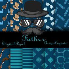 Kit digital papel Father gratis - GRAÇA LAYOUTS