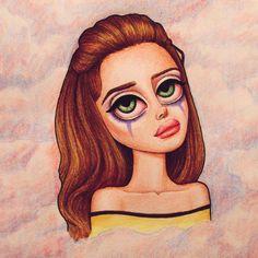 Lana Del Rey #LDR #art by Peter Curtis