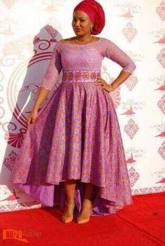 Unique Shweshwe dresses 2017 Shweshwe Outfits - style you 7 African Inspired Fashion, African Print Fashion, Africa Fashion, Fashion Prints, Asian Fashion, Fashion Beauty, African Print Dresses, African Fashion Dresses, African Dress