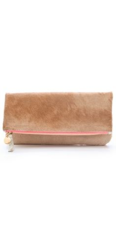 Claire Vivier Fold Over Haircalf Clutch