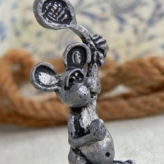 of mice and tennis... metal sculpture from an by CoolVintage