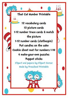 FREE That Cat Number Printable from Preschool Printables on TeachersNotebook.com -  (17 pages)  - Number cards
