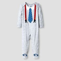 Vitamins Baby Baby Boys' Footed Coverall with Tie - Grey 6M, Infant Boy's, Size: 6 M