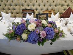 Luxury Top Table Display of Hydrangeas, Roses and Peonies - Stunning!!