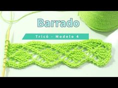 Barrado de tricô para toalhas, mantas, panos de prato| Modelo 4 – Tricotando Crochê Knitting Videos, Knitting Stitches, Knitting Patterns, Crochet Patterns, Crochet Borders, Knitted Slippers, Crochet Earrings, Crochet Hats, Sewing