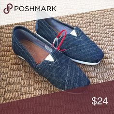 Navy Blue Toms *Never Been Worn* Size 7 New, never been worn Toms Shoes Espadrilles
