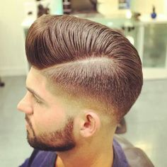 Let us create this look for you at Revolution by Elony. Hair Men Style, Hair And Beard Styles, Long Hair Styles, Men Hair, Mens Hair Colour, Look Rockabilly, Look Man, Mens Hair Trends, Pompadour