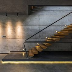Trending Now! Concrete,Wood and Black details one of our favorite combiantion of the moment! #Staircase at Misa Studio in #China designed by Wanjing Design #d_signers Visit us: www.dsigners.net for more!