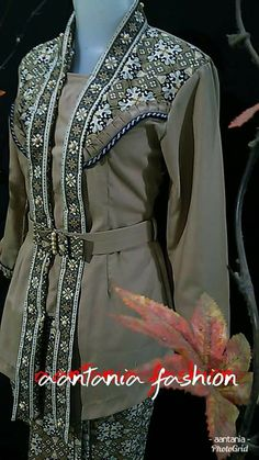 Batik Muslim, Kebaya Muslim, Muslim Dress, Muslim Fashion, Hijab Fashion, New Fashion, Fashion Outfits, Womens Fashion, Winter Fashion