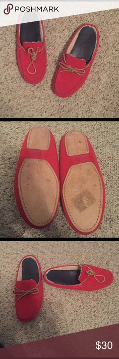 Cole Haan Red Slip on Slippers size 8 Cole Haan red slip on slippers. Men's size 8. Have been worn before around the house and still in excellent condition. Cole Haan Shoes