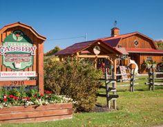 Vergers Cassidy - Le premier U-pick de la région et un kiosque fait pour les curieux avec son «tuyau d'honneur» ! #pommes #verger