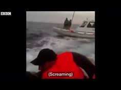 Video shows migrant boat 'hit' by Turkish coast guards
