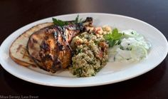 Grilled tandoori style chicken (recipe from moresavorylesssweet.com)