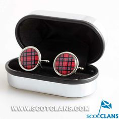 Clan Stuart of Bute Tartan Cufflinks